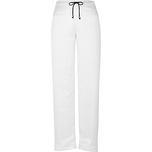 White dobby pyjama trousers