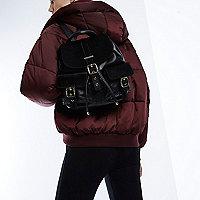 RI Studio black leather pony skin backpack