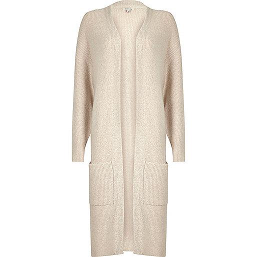 Cream longline cardigan