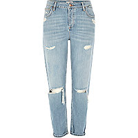 Ashley lichtblauwe ripped boyfriend-jeans