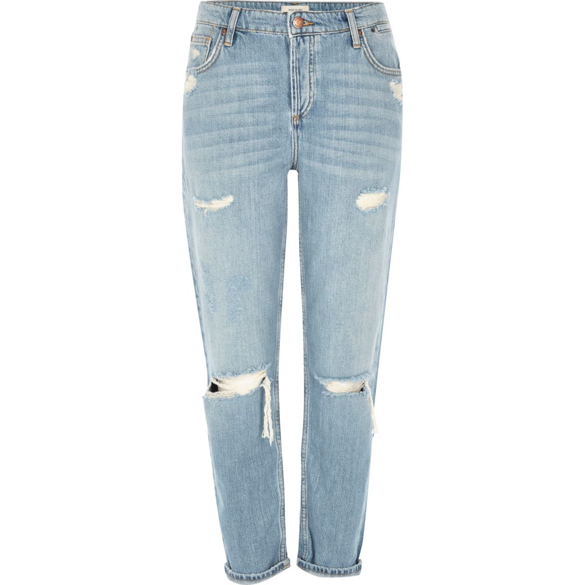 Light blue ripped Ashley boyfriend jeans