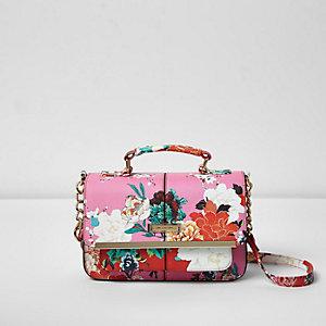 Mini sacoche rose à fleurs