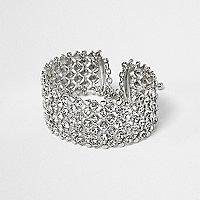 Bracelet Plus argenté orné de strass