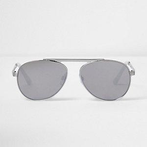 Lunettes de soleil aviateur à verres argentés