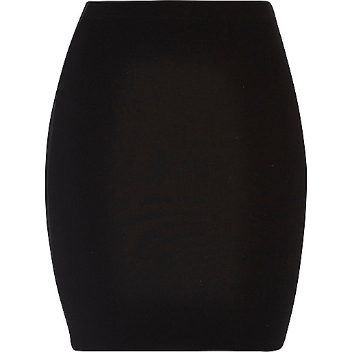 Black jersey mini skirt - mini skirts - skirts - women