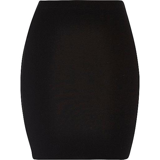Zwarte jersey minirok