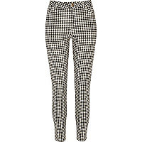 Pantalon Molly noir à carreaux vichy