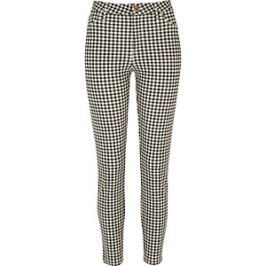 Black gingham Molly trouser