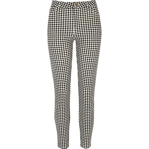 Pantalon Molly noir à carreaux vichy