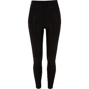 Black high waisted wet look leggings