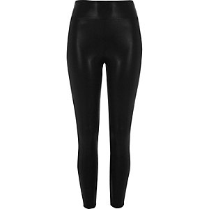 Black matte shine leggings