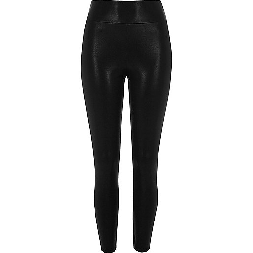Black matte shine leggings