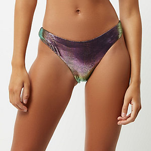 Green metallic mermaid bikini bottoms