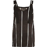Black stripe D-ring strap tunic