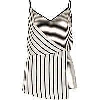 White stripe wrap top