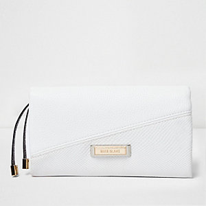 White foldover purse
