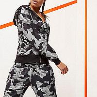 Sweat à capuche RI Active imprimé camouflage gris