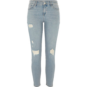 Light blue denim Amelie super skinny jeans