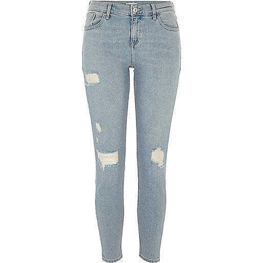Light blue denim Amelie super skinny jeans