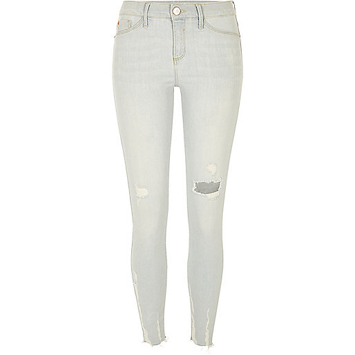 Light blue bleach distressed Molly jeggings