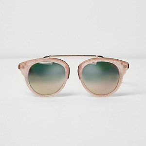 Rosa Sonnenbrille mit Glitzer