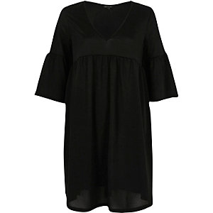 Black empire line smock dress
