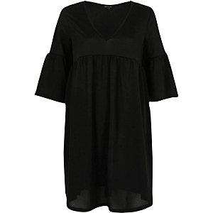 Schwarzes Empire-Kleid