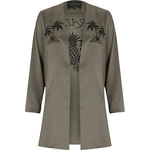 Khaki green paradise duster jacket