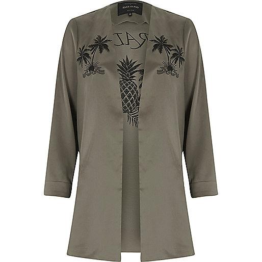 Khaki green paradise duster coat