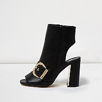 Black western style shoe boots