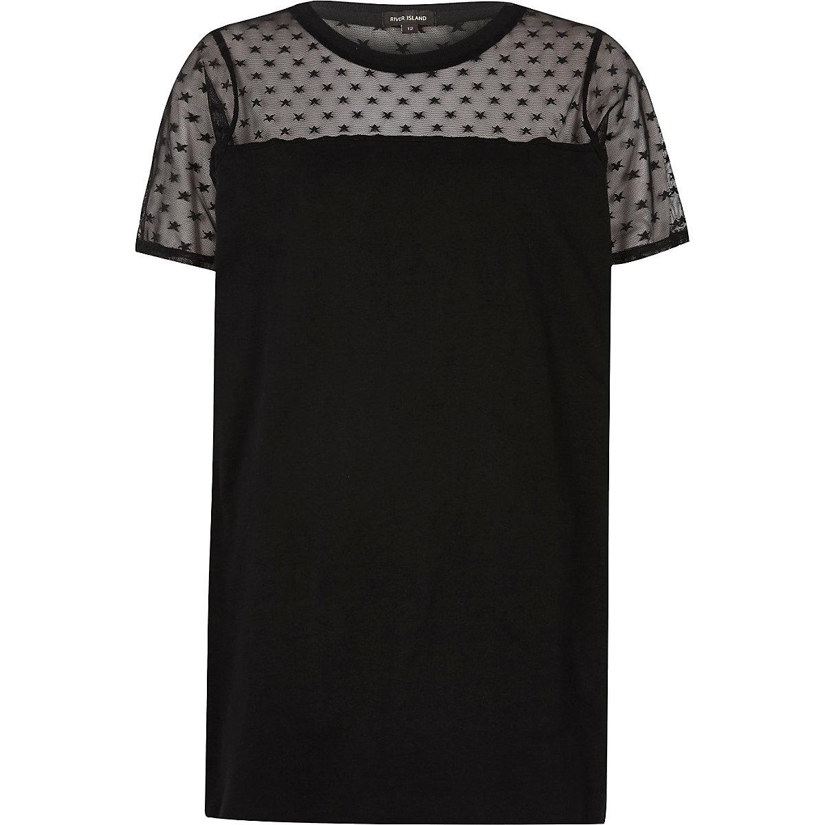 3584e401cec Black star mesh oversized T-shirt - RI Limited Edition - women