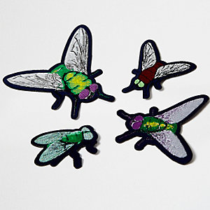 Broches insectes vertes Design Forum