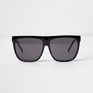 Black flat brow sunglasses