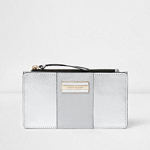 Silver panel foldout purse