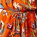 Orange tropical print playsuit