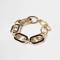 Kettenarmband in Gold und Schwarz