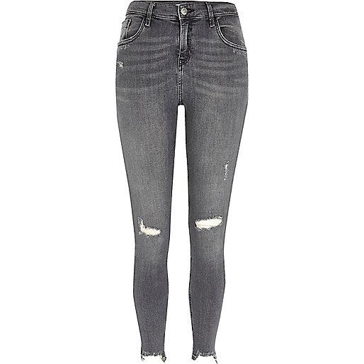 Grey ripped Amelie super skinny jeans - Jeans - Sale - women