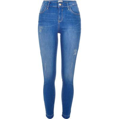 Amelie Helderblauwe wash superskinny jeans