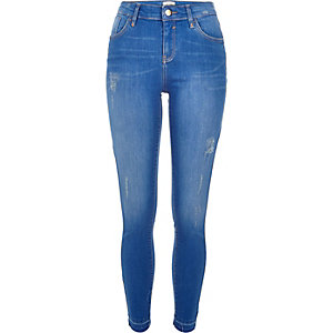 Bright blue wash Amelie super skinny jeans
