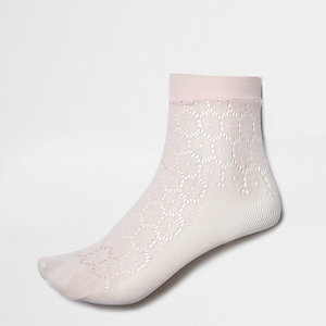 Pink crochet socks