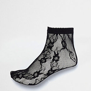 Chaussettes noires en dentelle
