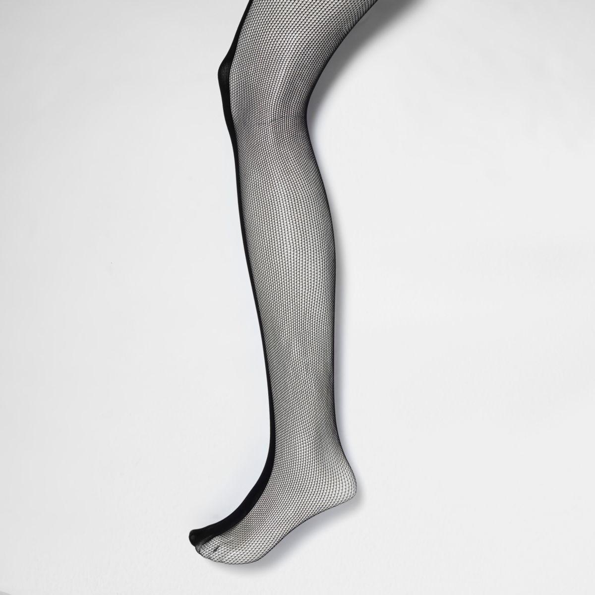 Black sporty fishnet tights