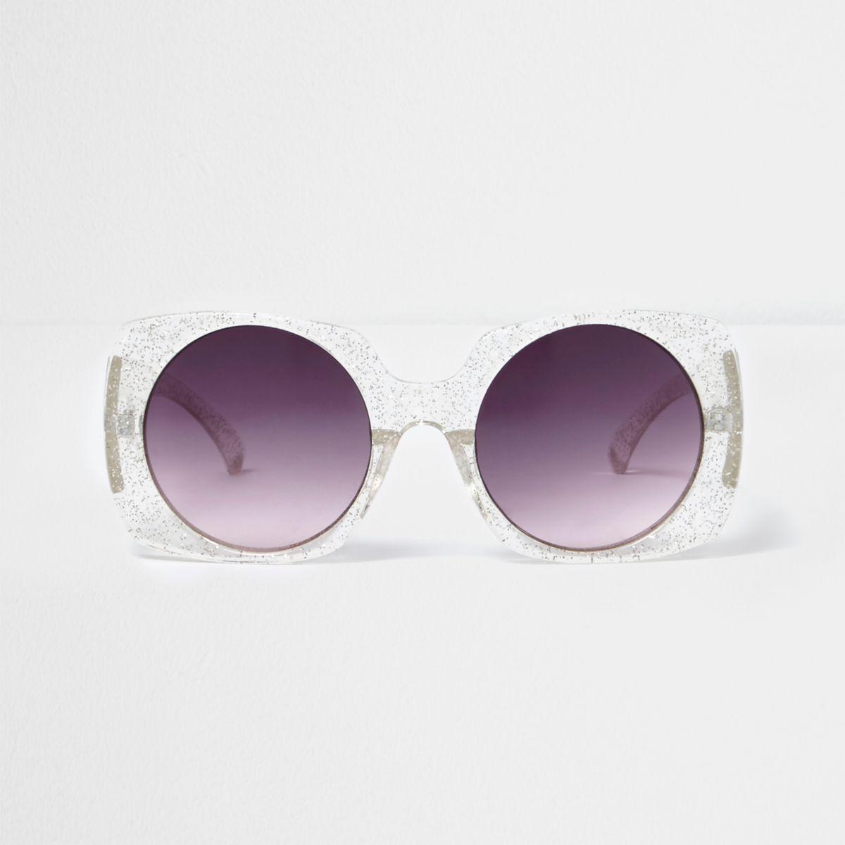 Glitter square tinted sunglasses