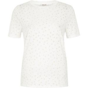 White star print burnout T-shirt