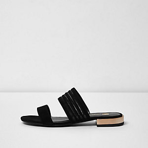 Sandales à deux brides noires