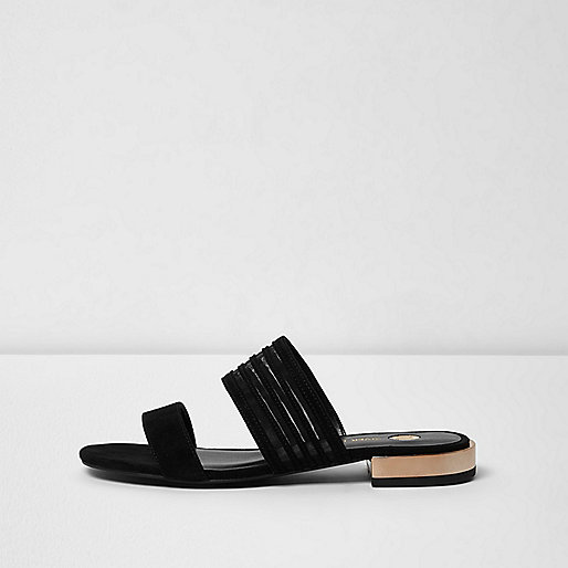 Black double strap sandal