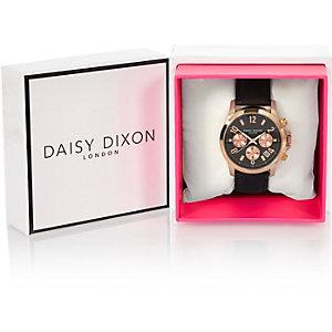 Daisy DIxon zwart horloge met textuurbandje