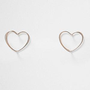 Herzohrringe in Silber und Roségold
