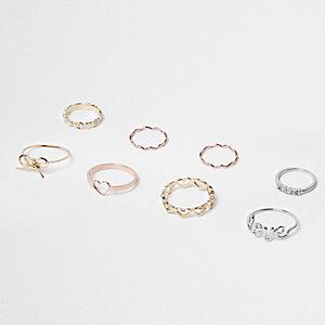Diverse Love-Rings im Multipack