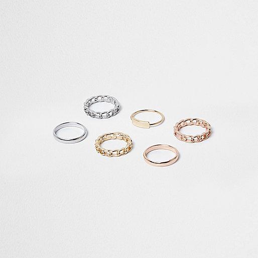 Lot d'anneaux multicolores